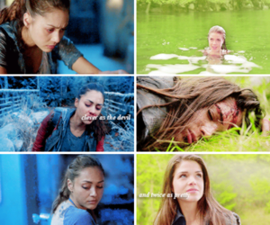 blue, the 100, and octavia blake image