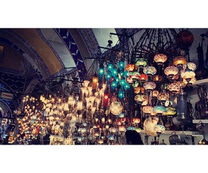 colourful, istanbul, and lamps image
