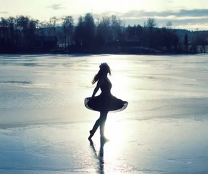 girl, ballet, and ice image