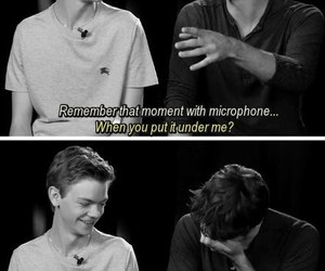 black and white, thomas brodie-sangster, and dylan o'brien image