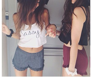 girl, outfit, and best friends image