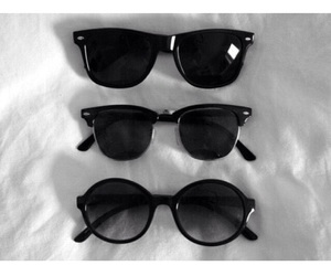 sunglasses and black image