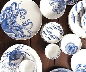 blue and white and decor image