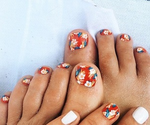 pattern, nails, and summer image