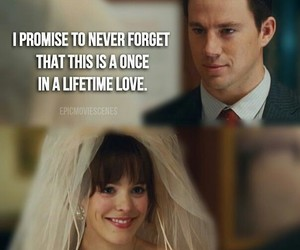movie, romance, and the vow image