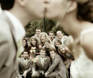 wedding, kiss, and couple image