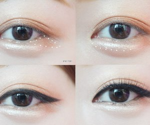 make up, korean make up, and korean eyes image