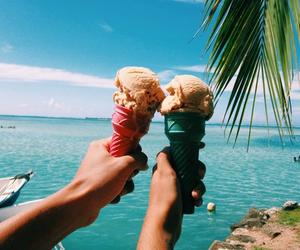 ice cream, summer, and beach image