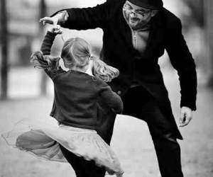 dance, black and white, and happy image