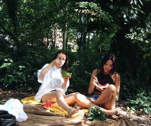 best friends, fun, and picnic image