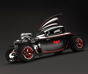 Batmobile and american street rods image