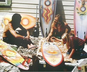 surf, surfer, and hippie image