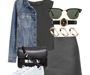 bag, skirt, and Polyvore image