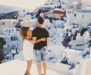 girl, couple, and travel image