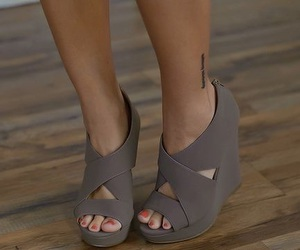 shoes, fashion, and wedges image