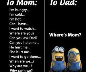 mom, dad, and funny image