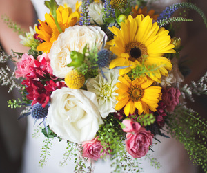 beautiful, bouquet, and flower image