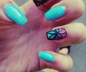nails, summer, and turqouise image