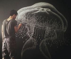 art, chalk, and draw image