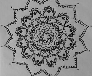 art, draw, and mandala image