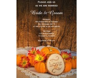 invitations, invites, and pumpkins image