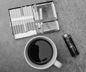 cigarette, coffee, and coffe image
