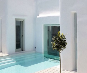 white, pool, and house image