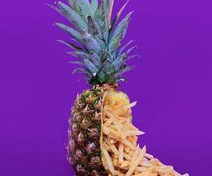 pineapple, purple, and aesthetic image