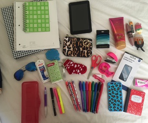 college, school supplies, and back to school image