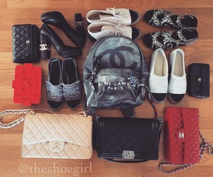 bags, chanel, and shoes image