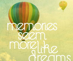 memories, balloons, and quote image