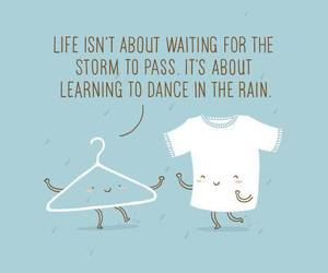 quote, rain, and storm image