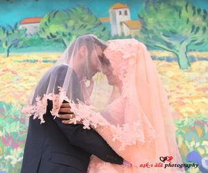 couple, engagement, and gown image