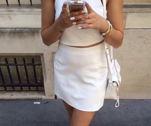 beige, city, and girl image