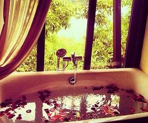 relax, bath, and bathroom image
