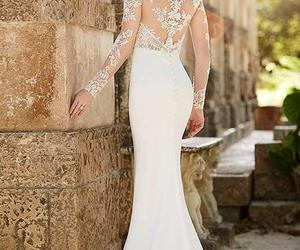 bride, wedding dress, and wedding gowns image