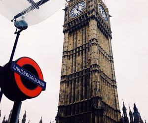 Big Ben, cloudy, and holidays image