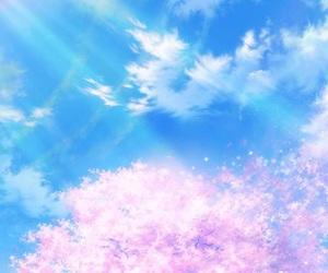 wallpaper, sky, and anime image