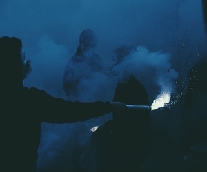 grunge, dark, and smoke image