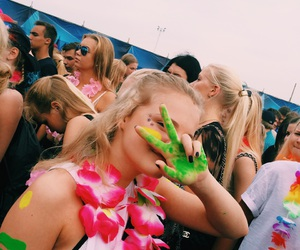 crazy, festival, and girl image