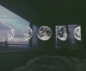 moon, grunge, and night image