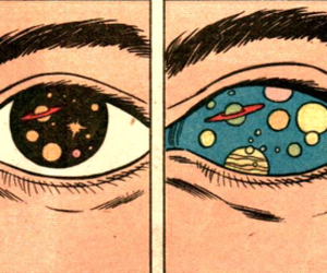 eyes, space, and eye image