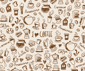 coffee, wallpaper, and cup image
