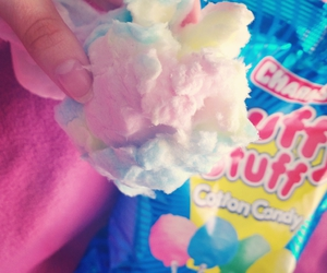 candy, cotton candy, and pale image