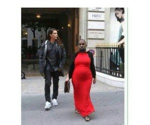 funny, kanye west, and kim kardashian image