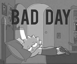 bad day, simpsons, and lisa image