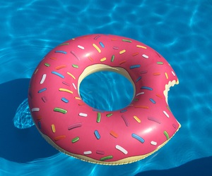 blau, donut, and pink image