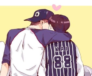 kaisoo, exo, and kai image