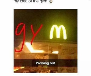 gym, funny, and food image