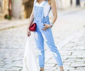 denim, outfit, and romper image